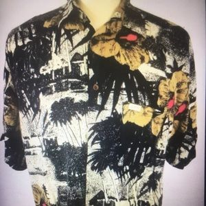 Guess Georges Marciano Men Large Tropical Shirt